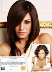 Волосы на заколках-цвет  #4A-шоколад