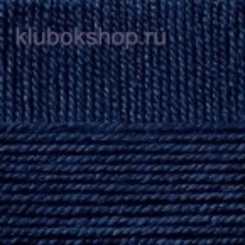 Пряжа НАРОДНАЯ 04 темно-синий Пехорка