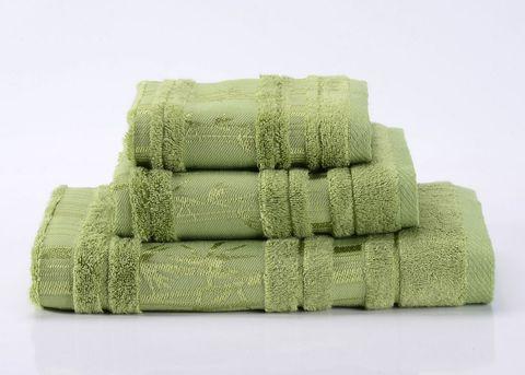 Bamboo CL-6  зеленое бамбуковое махровое  полотенце Valtery