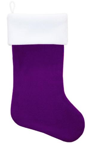 Рождественский носок фиолетовый