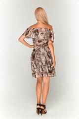 Шифоновое платье со змеиным принтом