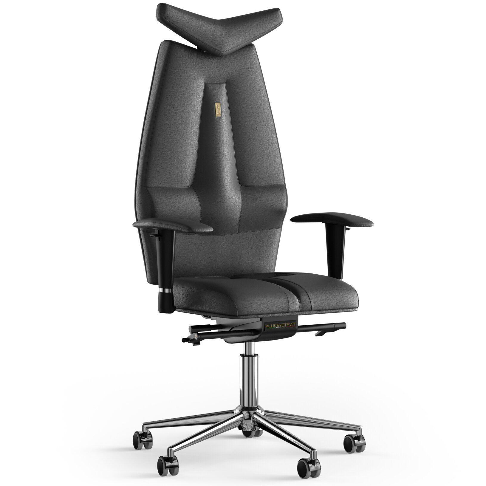 Кресло KULIK SYSTEM JET Кожа с подголовником без строчки