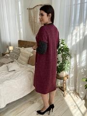 Ярослава. Удобное стильное платье плюс сайз. Бордо