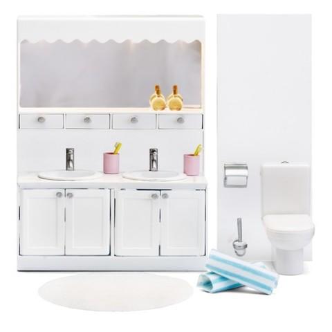 Мебель для домика Смоланд Ванная с 2 раковинами, Lundby