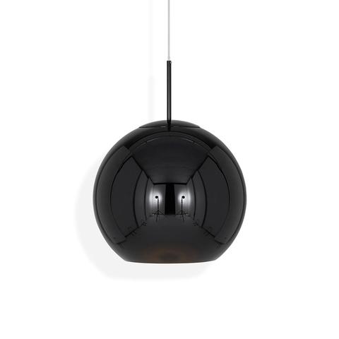 Подвесной светильник копия Copper shade by Tom Dixon (черный, D20)