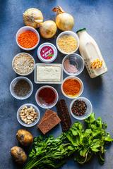 Корзина продуктов 3 ужина + рецепты (растительная)