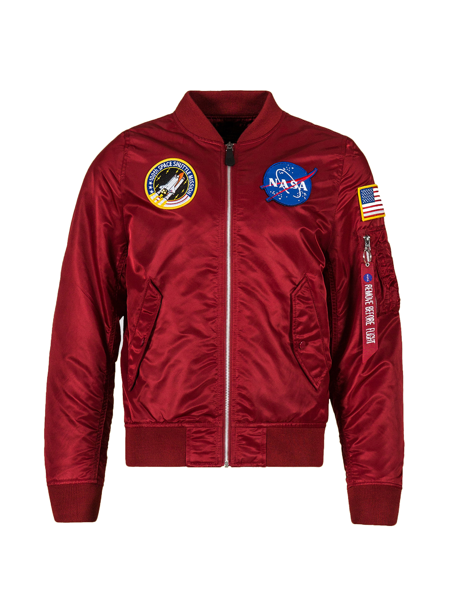 бомбер Alpha Industries L-2B NASA Commander Red