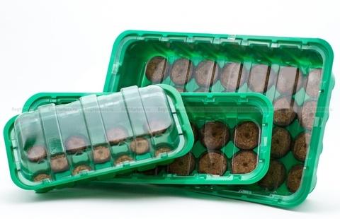 Мини-тепличка с торфяными таблетками d 33мм 11 шт