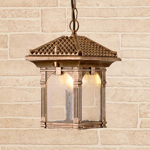 Corvus H черное золото уличный подвесной светильник IP33 GL 1021H