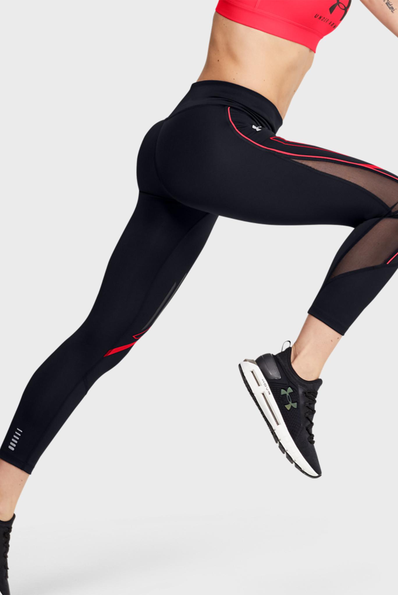 Женские черные тайтсы W UA SP Graphic Ankle Crop Under Armour