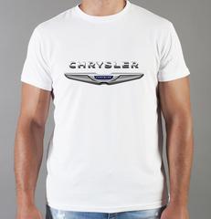 Футболка с принтом Chrysler (Крайслер) белая 005