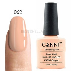 Canni, Гель-лак № 062, 7,3 мл