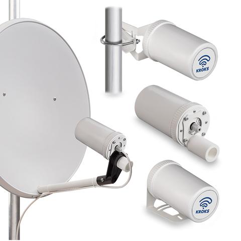 Комплект Kroks KSS-Pot MIMO Stick c 3G/4G модемом для установки в параболический облучатель