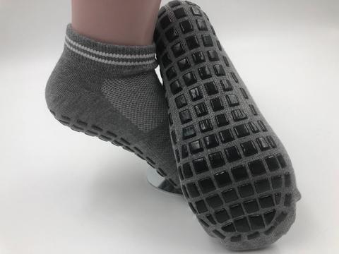 Нескользящие носки (р. 40-44, серые) - Усиленные, для йоги, батута, спорта