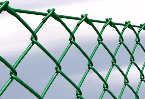 Сетка рабица зеленая 6005 высота 2.0 метра