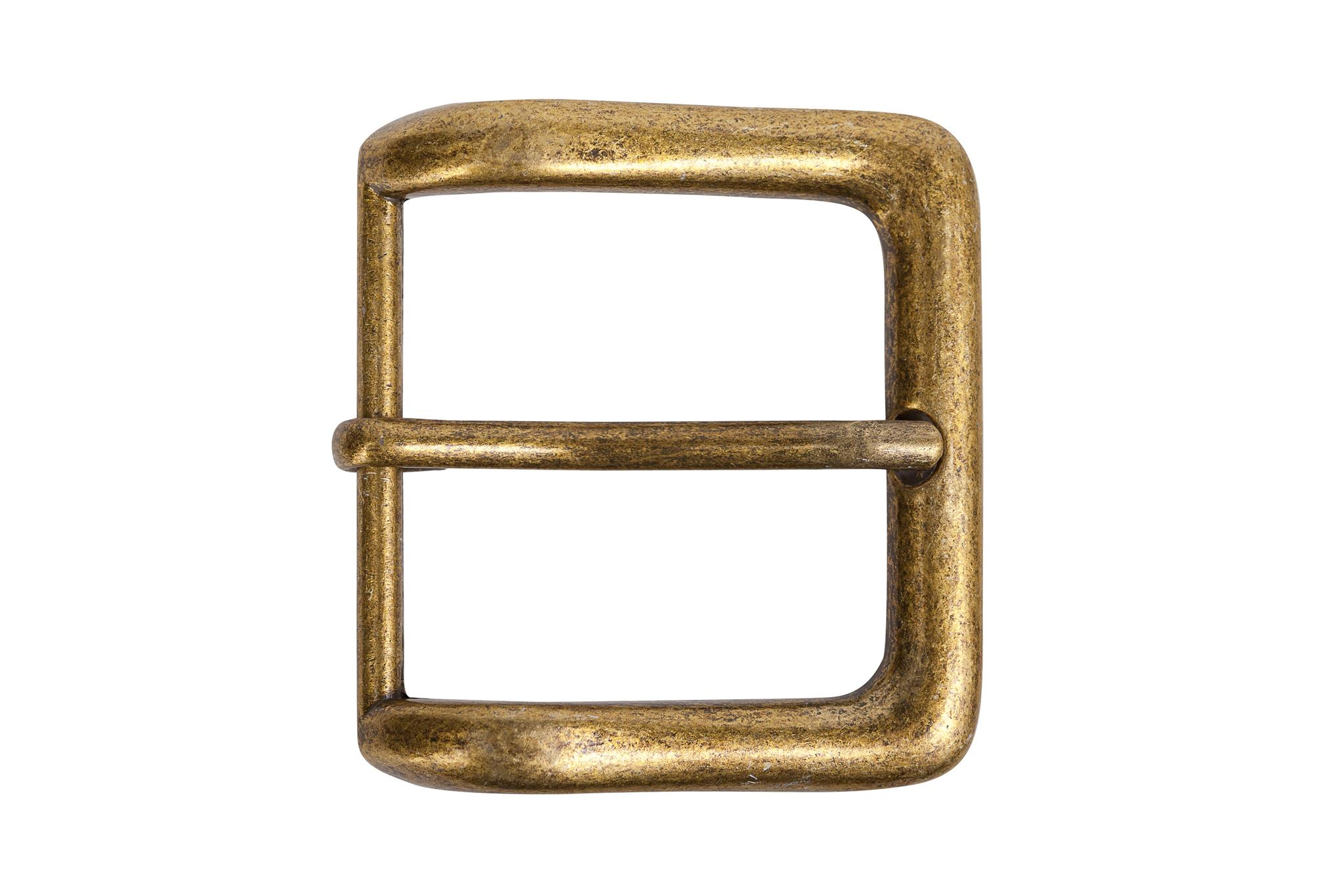 Пряжка для ремней 39 мм - состаренная латунь