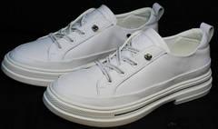 Женские летние туфли сникерсы белые El Passo sy9002-2 Sport White.