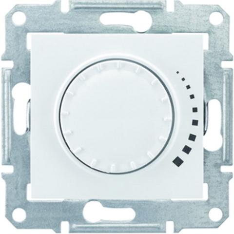 Светорегулятор/Диммер поворотно-нажимной 40-1000 Вт/Ва индуктивный. Цвет белый. Schneider Electric Sedna. SDN2200921