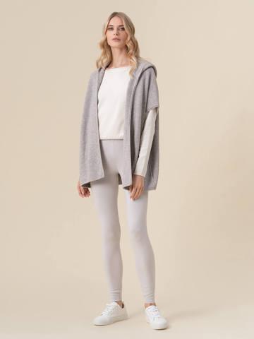 Женские брюки светло-серого цвета из 100% кашемира - фото 2