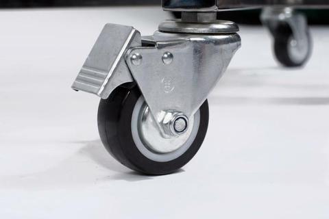 Керамический гриль Monolith Junior S малый на колёсиках  (черный)