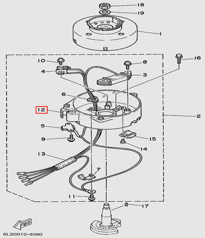 Основание  для лодочного мотора T3 SEA-PRO (8-12)