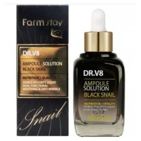 FarmStay DR.V8 Ampoule Solution Black Snail