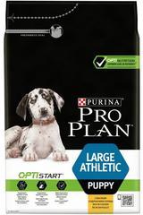 Сухой корм, Purina Pro Plan, для щенков крупных пород с атлетическим телосложением, с курицей и рисом