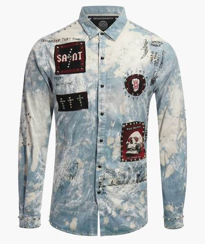 Рубашка The Saints Sinphony CONCERT TRUCKER BUTTON UP BLUE
