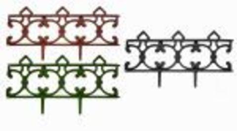Заборчик пластиковый садовый Парковый высота 31см длина 2,9м черный (5 секций) Либра