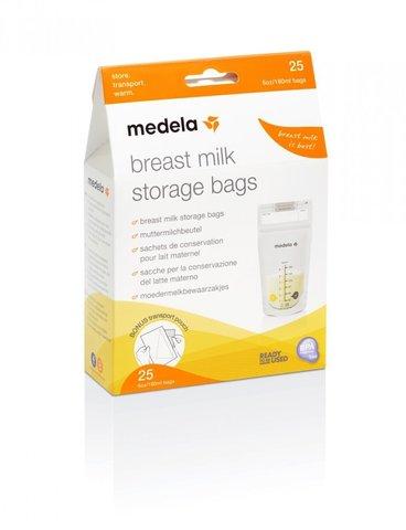 Medela. Пакеты одноразовые Breast Milk Storage Bags для сбора грудного молока, 25 шт
