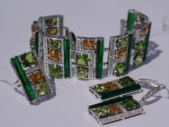 гранат зеленый