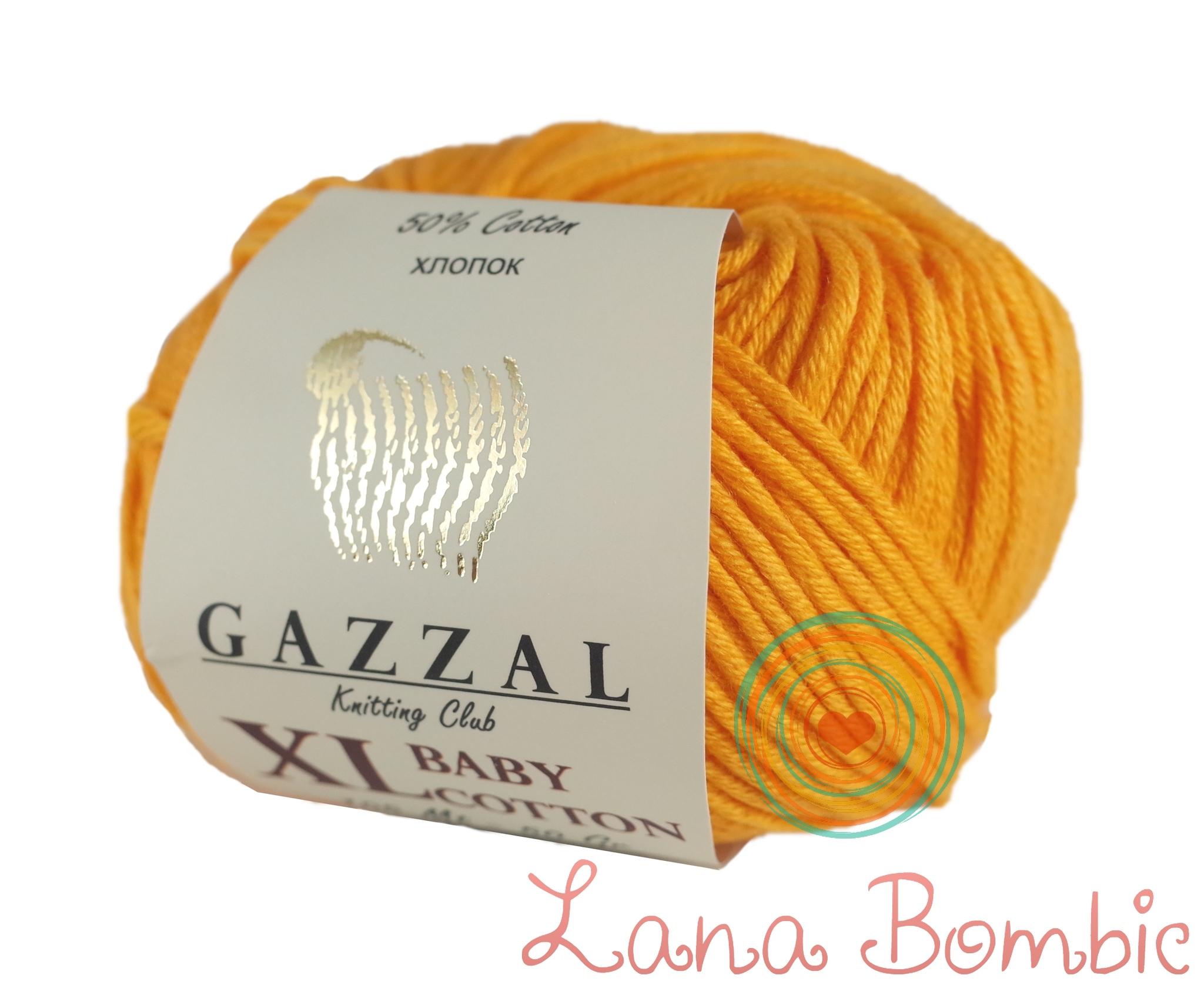 Пряжа Gazzal Baby Cotton XL 3416 папайя