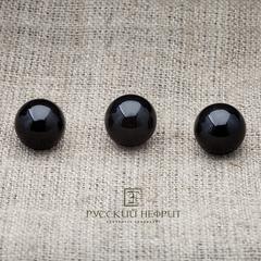Шарик 12мм. Чёрный нефрит (класс модэ).