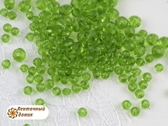Бусины Хрустальные светло-зеленые овальные