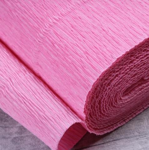 Бумага гофрированная, цвет 949 светло-розовый, 140г, 50х250 см, Cartotecnica Rossi (Италия)