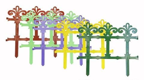Заборчик пластиковый садовый Роскошный сад высота 33,5см длина 2,67м (7 секций) Либра