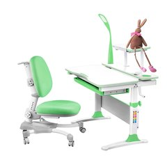 Rifforma Комплект парта и стул SET-30 натуральное дерево (парта+полка+кресло+лампа) цвет в ассортименте (RFSET-0430В)