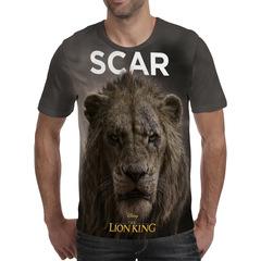 Футболка 3D принт, Король Лев (3Д The Lion King) Шрам / Scar