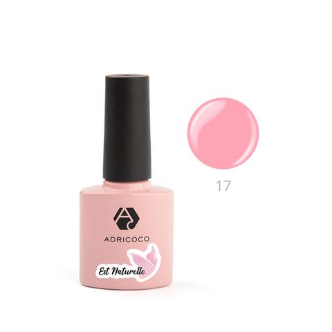 Гель-лак ADRICOCO Est Naturelle №17 камуфлирующий яркий персиково-розовый(8 мл.)