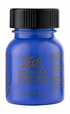 MEHRON Жидкий грим Liquid Makeup, Blue (Синий), 30 мл