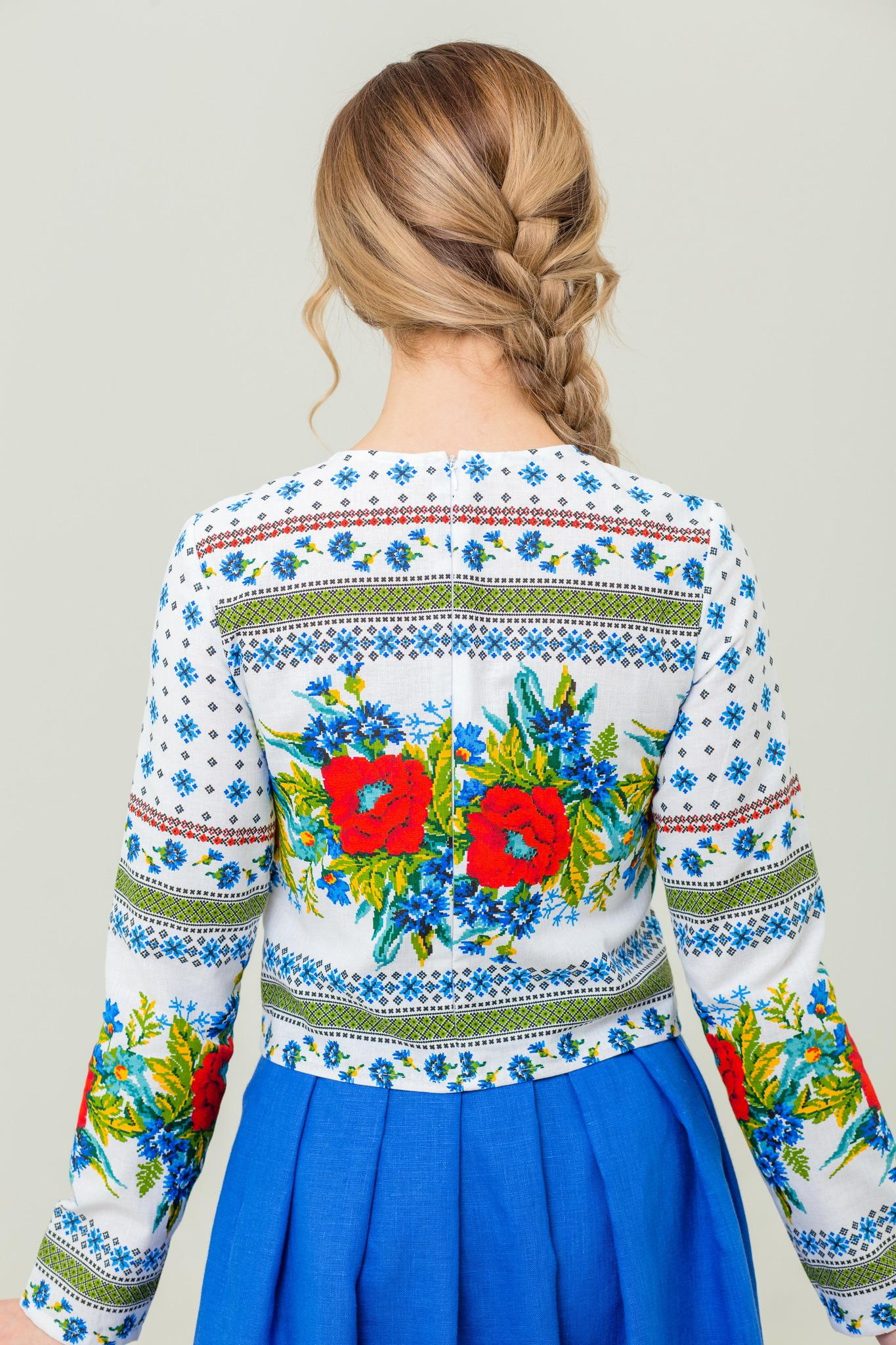 Русская народная блуза Маков цвет
