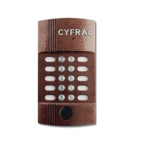 Вызывная панель аудиодомофона на 10 абонентов Цифрал М-10М/Р