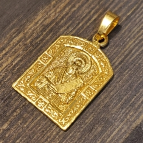 Нательная именная икона святой Симеон (Семен) с позолотой кулон