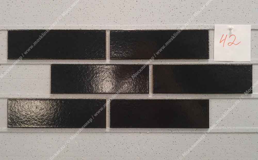 ABC - глазурованная, Tiefschwarz 390, 240х71х10, NF - Клинкерная плитка для фасада и внутренней отделки