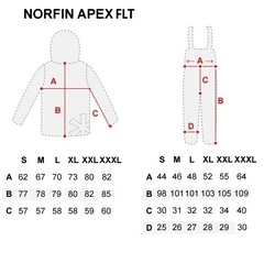 Костюм рыболовный плавающий зимний NORFIN Apex FLT, размер XL