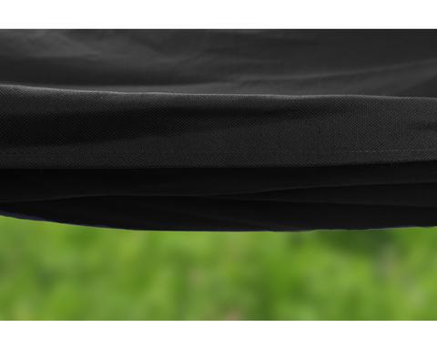 Гамак из льна с планкой черный