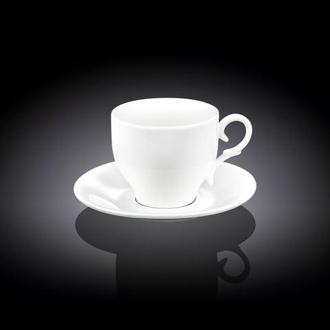 Набор кофейная чашка блюдце Wilmax 90 мл (WL-993103)
