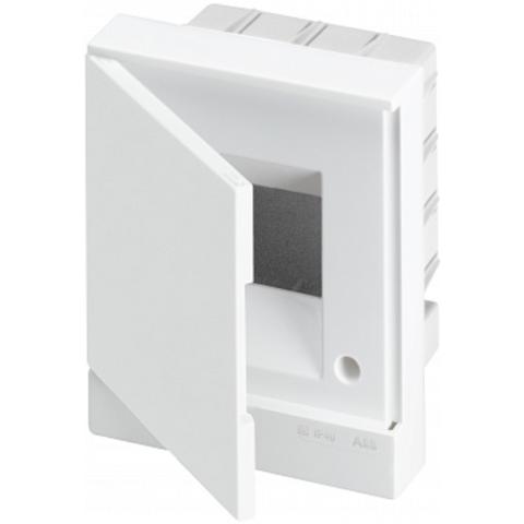 Бокс в нишу Basic E 4-модуля непрозрачная дверь. Цвет Белый. (с клеммами) 160mm*180mm*105mm IP40. ABB. 1SZR004002A1101