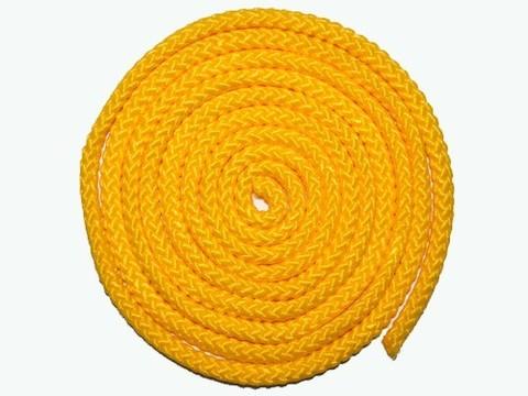 Скакалка гимнастическая, цветная ткань. Длина 3 метра. Цвет жёлтый. :(АВ251):