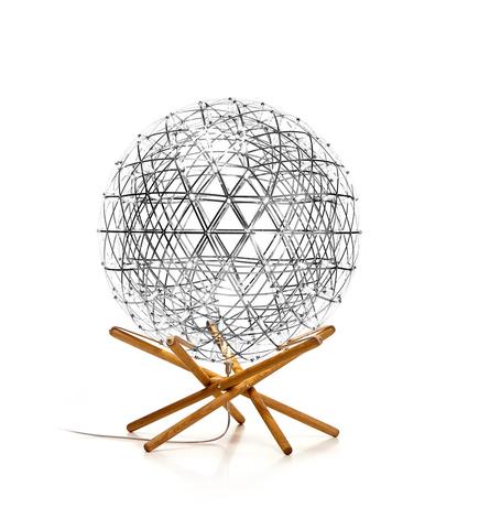 Напольная лампа копия  Raimond Tensegrity by Moooi (серебряный, D 89 cm)